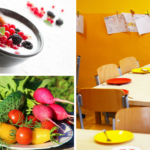 Produkty mleczne,<br> owoce i warzywa<br> w szkole