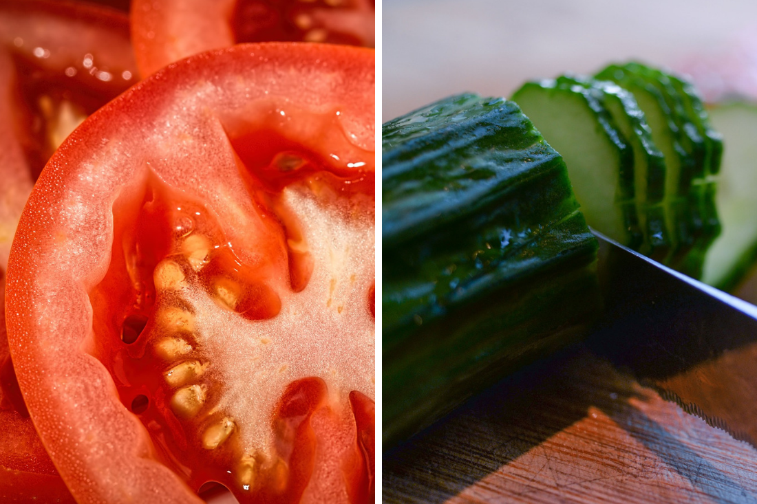 Czy można łączyć pomidora z ogórkiem?
