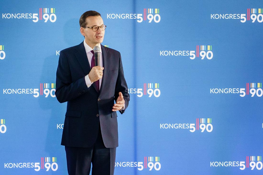 Premier Mateusz Morawiecki<br> na Kongresie 590
