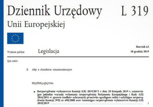 Nowe Rozporzadzenie 2019_2072 w sprawie srodkow ochronnych przeciwko agrofagom roslin
